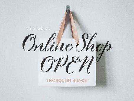 THOROUGH BRACE オンラインショップオープン!