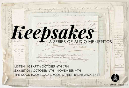 Keepsakes Listening Party and Live Podcasting