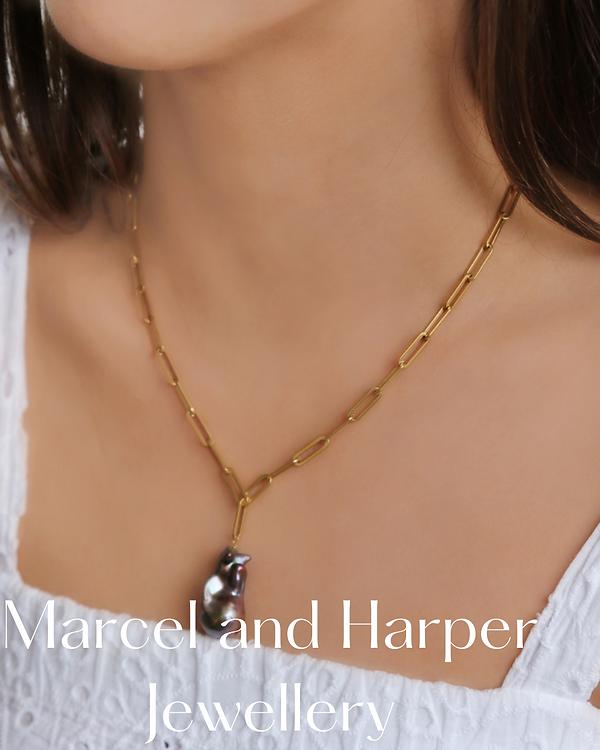 Marcel and Harper jewellery brand image.