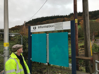 Visit to Dolgarrog station