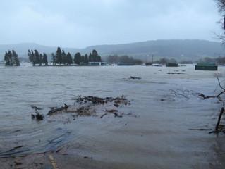 Dolgarrog Railway Flooded by Storm Eva
