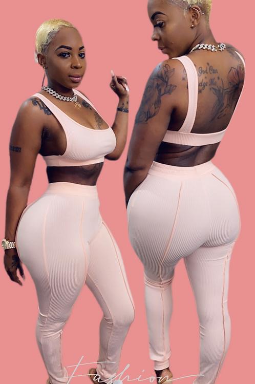 A New Me crop top & pants set