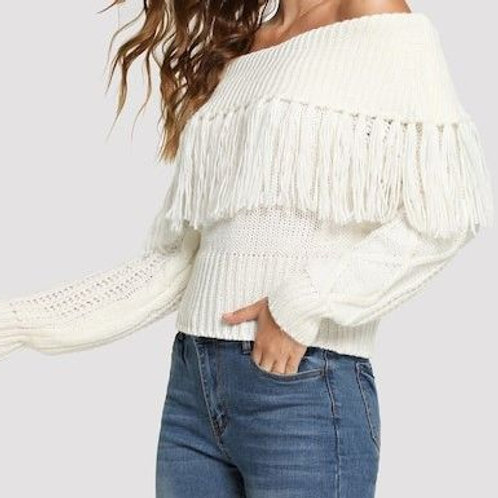 Amina Fringe Sweater