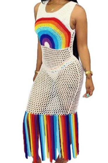 Rainbow Cover up dress
