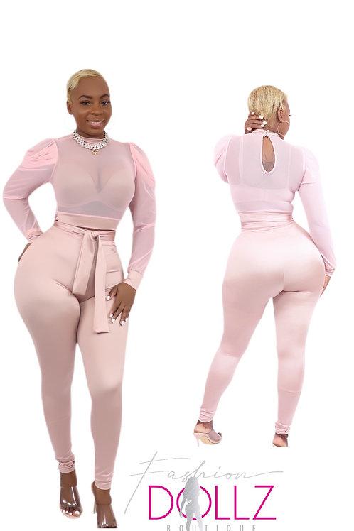 Pink & Classy Pants Set