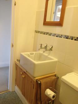 Belfast sink in bathroom