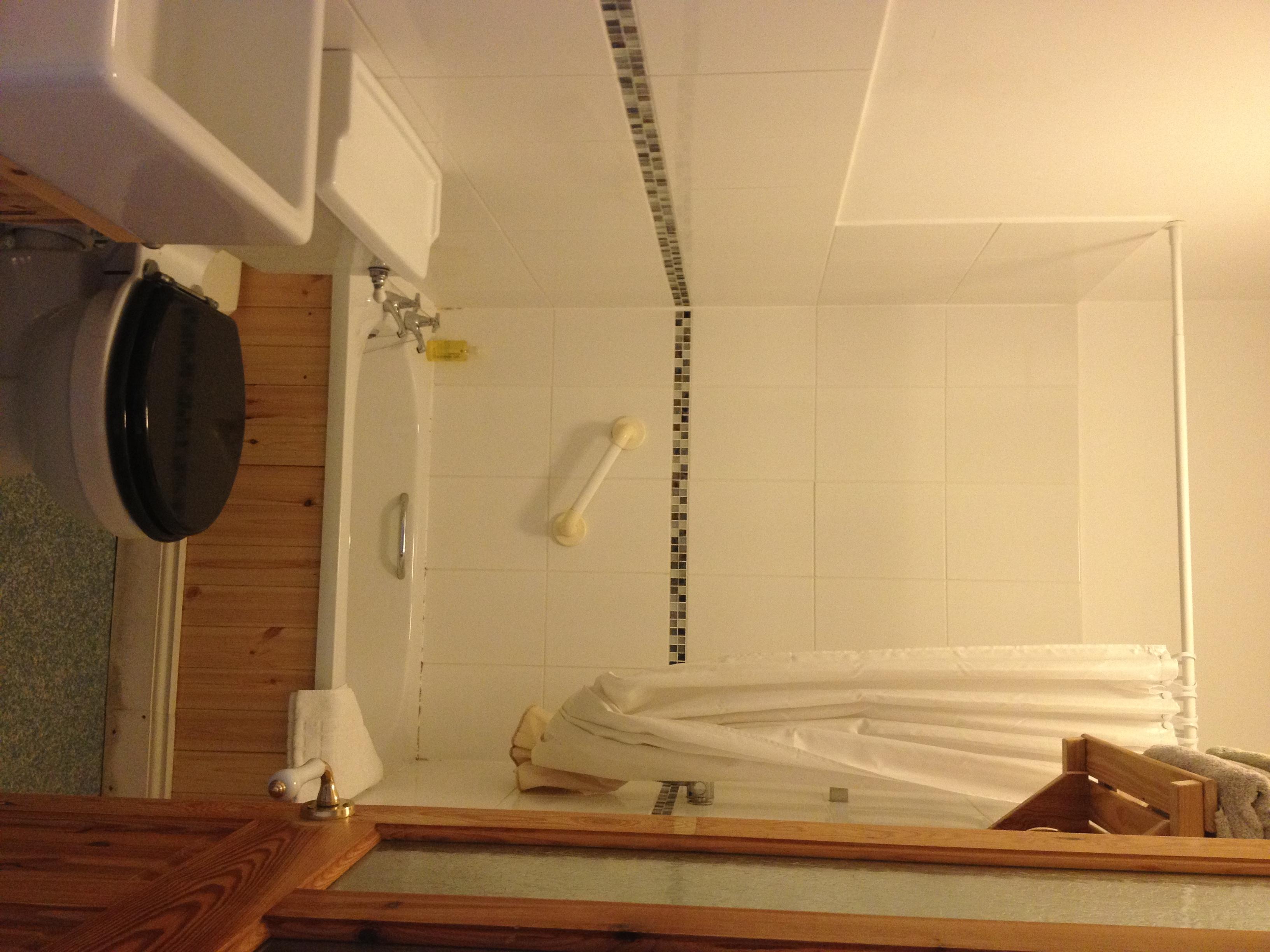 Bathroom with shower & mini bath