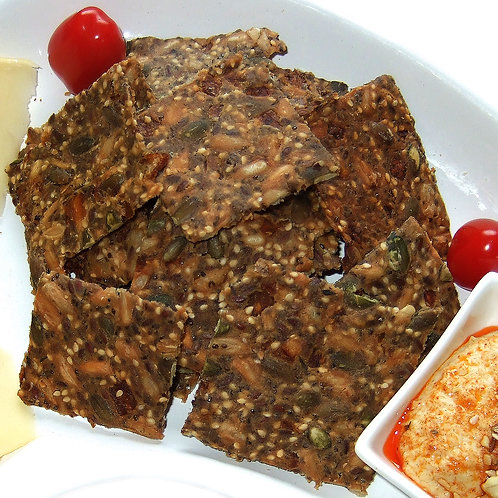 Caramelized Onion Seed Crackers