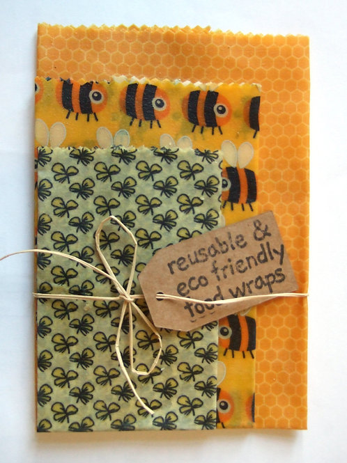Beeswax Wraps - pack of 3