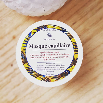 Masque capillaire: Cheveux Gras