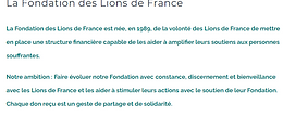 La Fondation des Lions de France