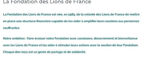 La Fondation des Lions de France