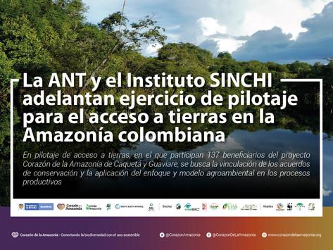 La ANT y el Instituto SINCHI adelantan ejercicio de pilotaje para el acceso a tierras en la Amazonía