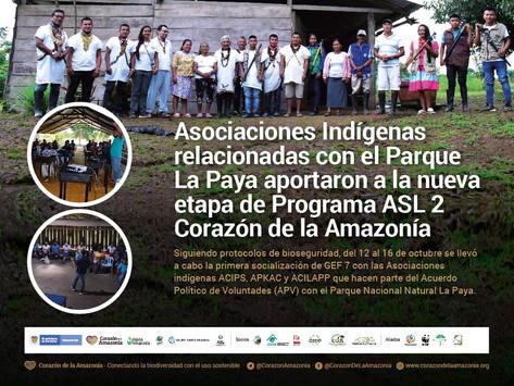 Asociaciones Indígenas relacionadas con el Parque La Paya aportaron a la nueva etapa de Programa ASL
