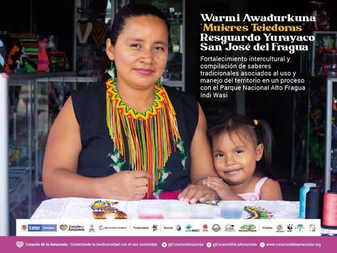 """Warmi Awadurkuna """"Mujeres Tejedoras"""" Resguardo Yurayaco San José del Fragua."""