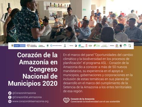 Corazón de la Amazonía en Congreso Nacional de Municipios 2020