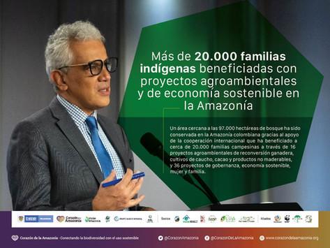 Más de 20.000 familias indígenas beneficiadas con proyectos agroambientales y de economía sostenible