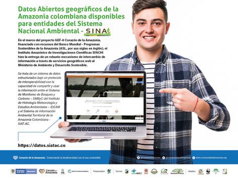 Datos Abiertos geográficos de la Amazonia colombiana disponibles para entidades del SINA