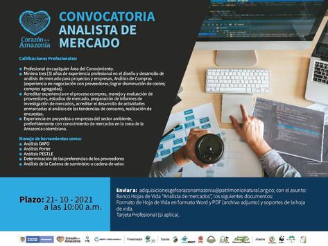 CONVOCATORIA - ANALISTA DE MERCADO