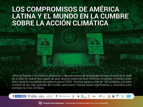 Los compromisos de América Latina y el mundo en la Cumbre sobre la Acción Climática