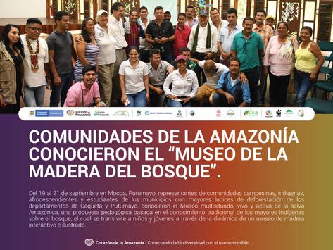 """Comunidades de la Amazonía conocieron el """"Museo de la Madera del Bosque""""."""