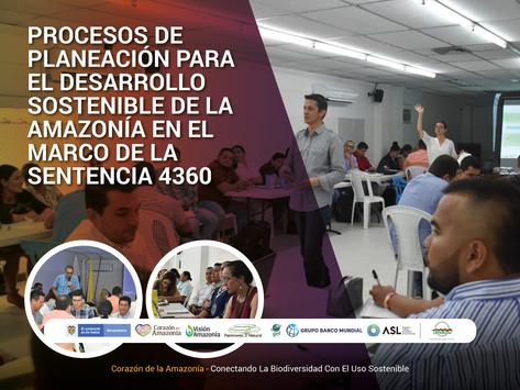 Procesos de planeación para el desarrollo sostenible de la Amazonía en el marco de la Sentencia 4360