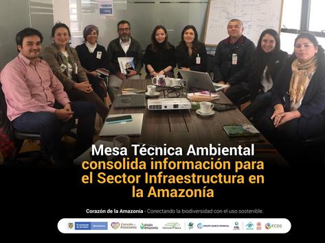 Mesa Técnica Ambiental consolida información para el Sector Infraestructura en la Amazonía
