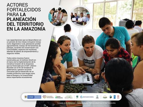 Actores fortalecidos para la planeación del territorio en la Amazonía