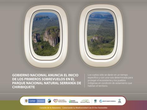 Gobierno Nacional anuncia el inicio de los primeros sobrevuelos en el PNN Serranía de Chiribiquete