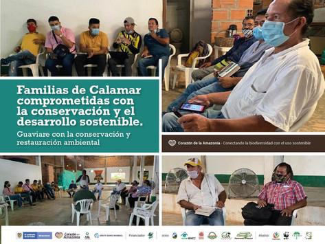 Familias de Calamar comprometidas con la conservación y el desarrollo sostenible.