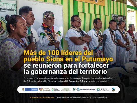 Más de 100 líderes del pueblo Siona se reunieron para fortalecer la gobernanza del del territorio