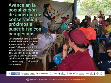 Avance en la socialización de acuerdos de conservación próximos a suscribirse con campesinos