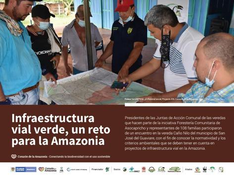 Infraestructura vial verde, un reto para la Amazonia
