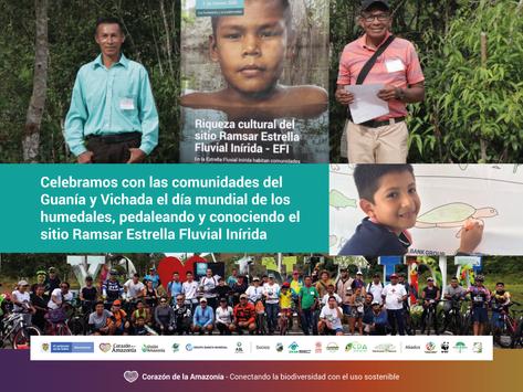 Celebramos con las comunidades del Guanía y Vichada el día mundial de los humedales
