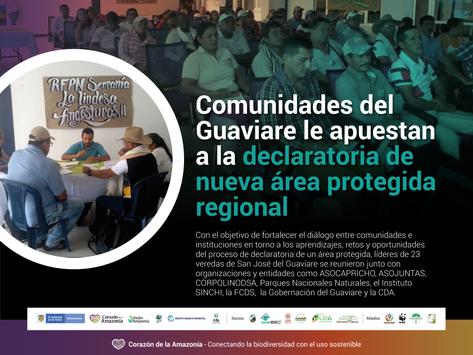 Comunidades del Guaviare le apuestan a la declaratoria de nueva área protegida regional
