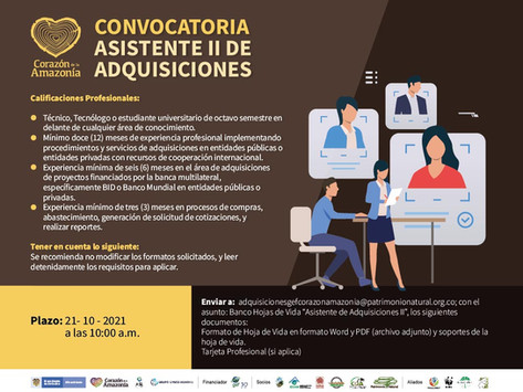 CONVOCATORIA - ASISTENTE II DE ADQUISICIONES