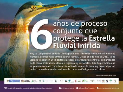 6 años de proceso conjunto que protege la Estrella Fluvial Inírida