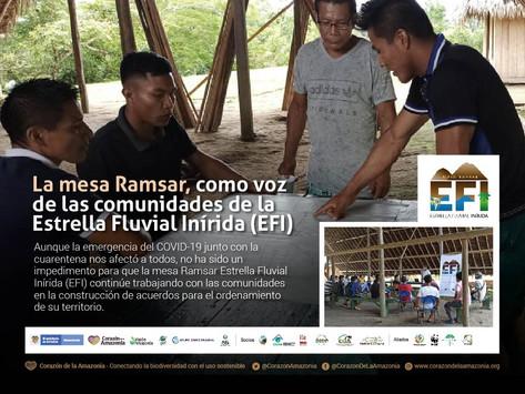 La mesa Ramsar, como voz de las comunidades de la Estrella Fluvial Inírida