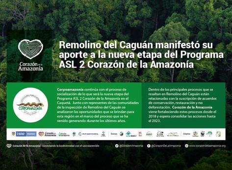Remolino del Caguán manifestó su aporte a la nueva etapa del Programa ASL 2 Corazón de la Amazonía