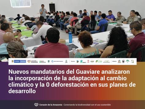 Nuevos mandatarios del Guaviare analizaron la incorporación de la adaptación al cambio climático...