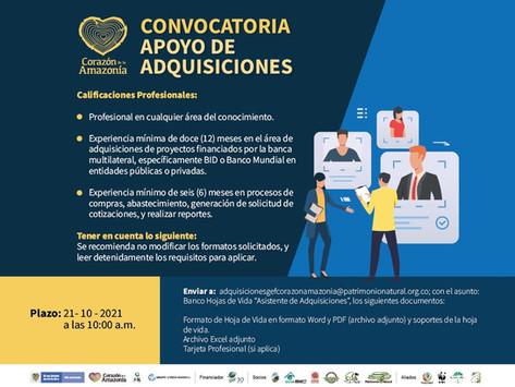 CONVOCATORIA - APOYO DE ADQUISICIONES