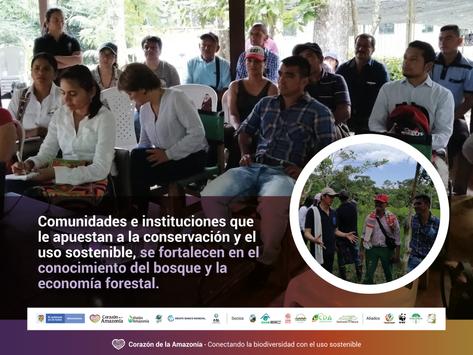 Comunidades e instituciones que le apuestan a la conservación y el uso sostenible, se fortalecen en