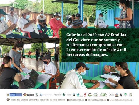 Culmina el 2020 con 87 familias del Guaviare que se suman y reafirman su compromiso