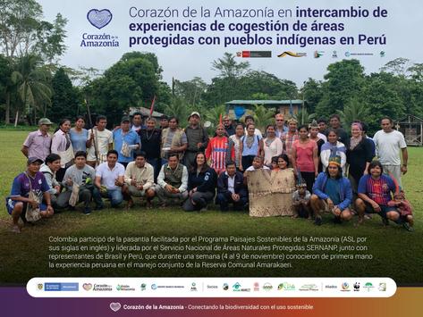 Corazón de la Amazonía en intercambio de experiencias de cogestión de áreas protegidas