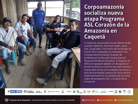 Corpoamazonía socializa nueva etapa Programa ASL Corazón de la Amazonía en Caquetá