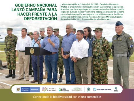 Gobierno Nacional lanzó campaña para hacer frente a la deforestación