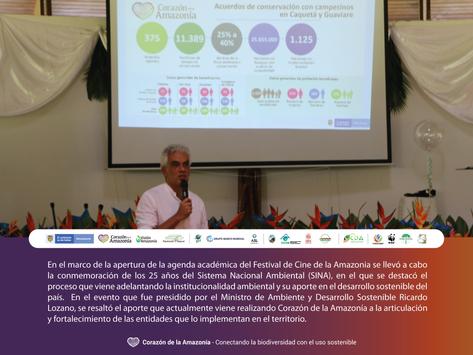 Conmemoración de los 25 años del Sistema Nacional Ambiental (SINA)