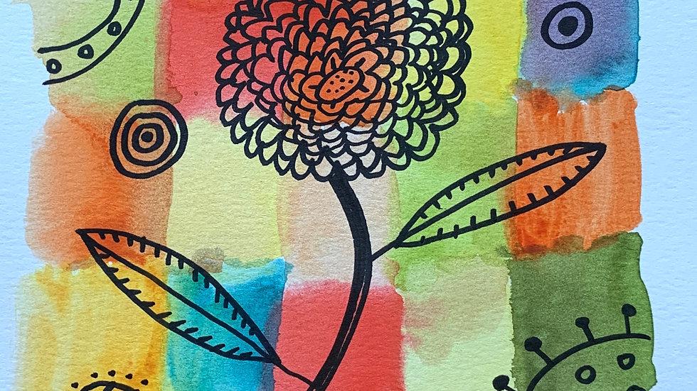 Paul Klee Flower Homage
