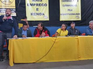 Carlão discursa contra a terceirização em evento da Nova Central