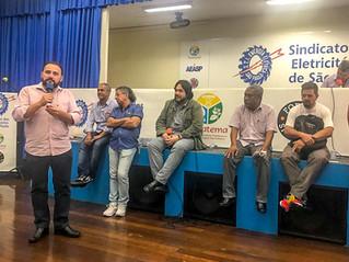 REUNIÃO NO SINDICATO DOS ELETRICITÁRIOS